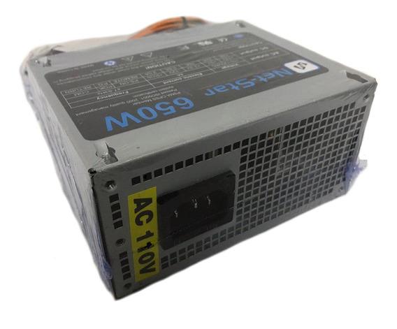 Fuente Poder 650w 20/24 Pines Mini Atx Case Slim Cable Largo