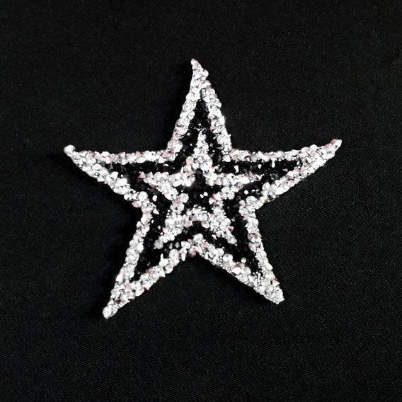 Ack-50436 Aplique Termoadhesivo De Estrella Strass Por 100un