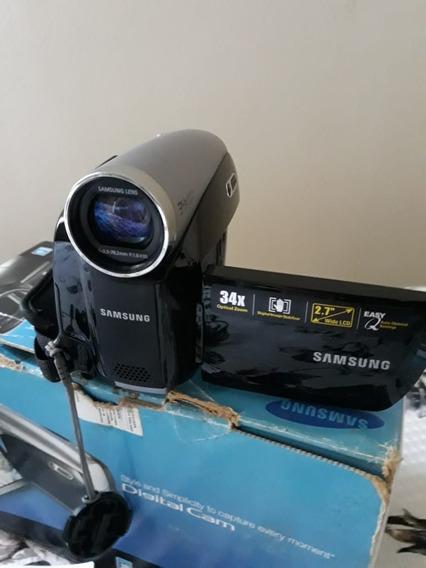 Filmadora Samsung Sc D381/x Az Lcd 34x Zoom Na Caixa