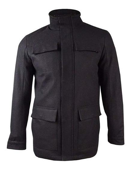 Abrigo Calvin Klein De Lana Para Hombre Color Negro Saco