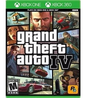 Grand Theft Auto Iv Gta 4 - Xbox One 360 - Usado