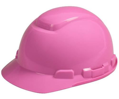 Casco De Proteccion Para Mujer Rosado Ingeniera Construccion