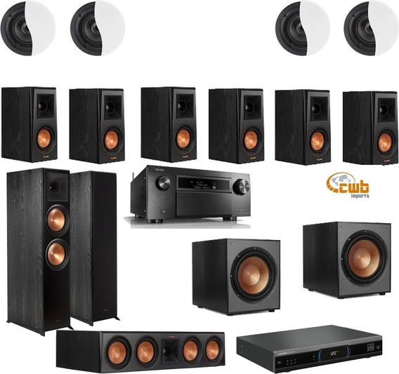 Kit Home Dolby Atmos 9.2.4 Denon X8500 Caixas Klipsch + Cabo