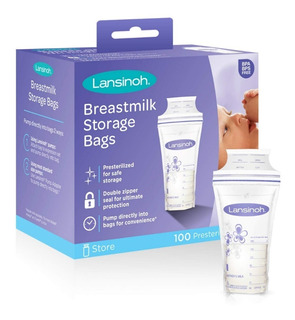 Bolsas Para Almacenamiento De Leche Materna Lansinoh 100 Pza