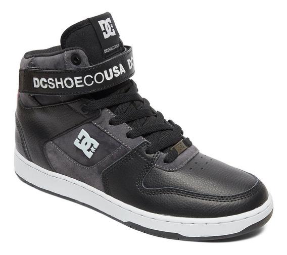 Bota Dc Pensford Velcro Moda Adys400053 Gris/negro Dep