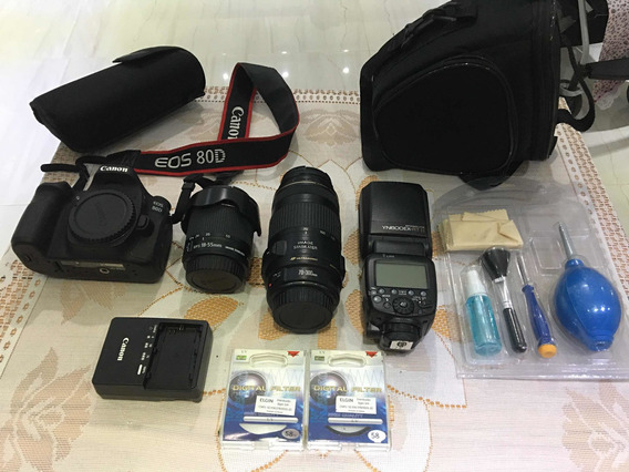 Canon 80d Kit Com Lente E Flash
