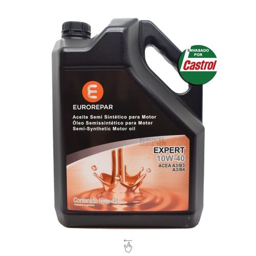 Aceite De Motor Eurorepar 4 Litros 10w40 Semisintetico Exper