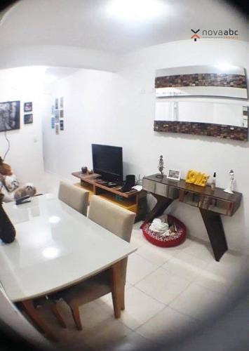 Apartamento À Venda, 55 M² Por R$ 275.600,00 - Vila Valparaíso - Santo André/sp - Ap1184