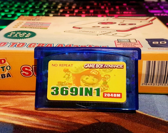 Cartucho Fita 369 Em 1 Game Boy Advance Gba Multi Jogos 369