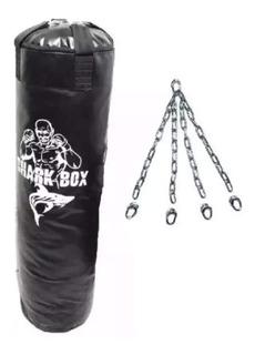 Bolsa De Boxeo (90cm) Con Cadenas Y Relleno, Lona Cobertura