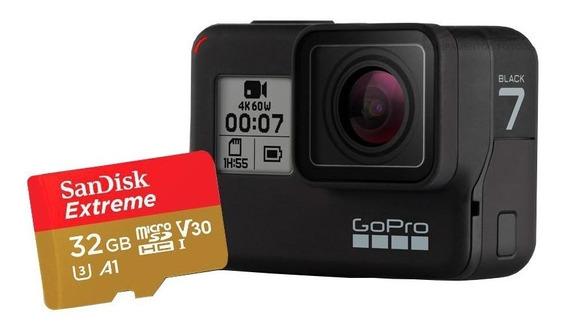 Gopro Hero 7 Black + Nota Fiscal + Cartão 32gb Extreme