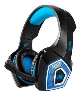 Nisuta Auricular Con Microfono Ns-aug350 Azul Ps4 Xbo Cuotas