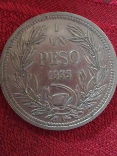Moneda De 1 Peso Año 1933 Chilena, Son 70 Monedas.