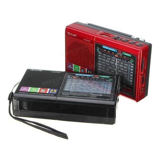 Caixa De Som Bluetooth Radio Com Lanterna Am Fm Usb Completo