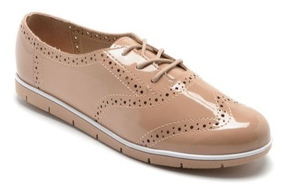 Mocasines Moleca Zapatos Mujer Charol Oxford 5613 Rimini