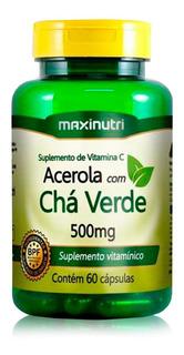Cha Verde C/ Acerola 60 Caps - Maxinutri Original