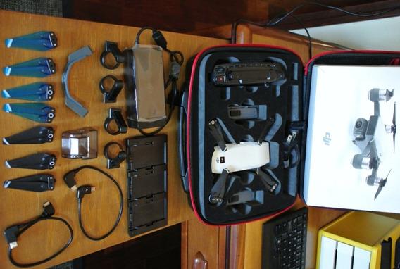 Drone Dji Spark + Controle E Acessórios (sem Quedas)