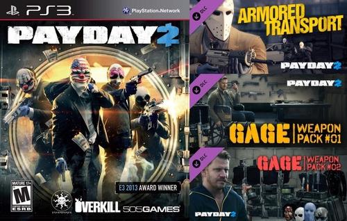 Payday 2 + Todos Los Dlc ~ Ps3 Digital Español