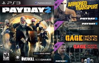 Payday 2 + Dlc Extras ~ Ps3 Digital Español