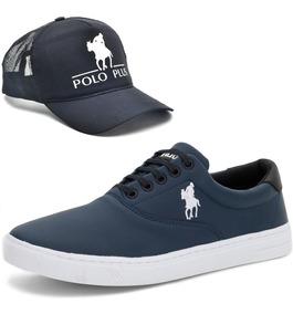Tênis Casual Polo Plus Original Masculino Promoção + Brinde