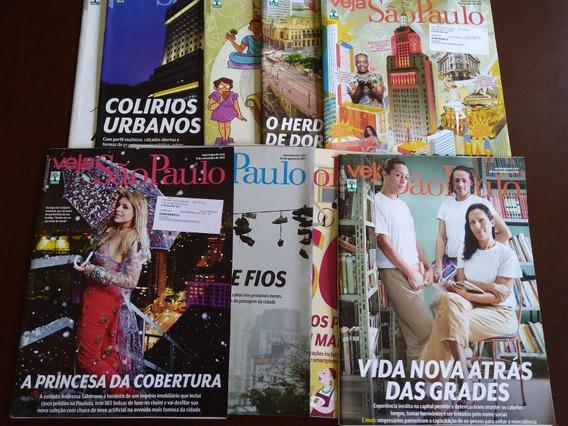 Kit 9 Revistas Veja Sao Paulo Temas Diversos 2017e 2018