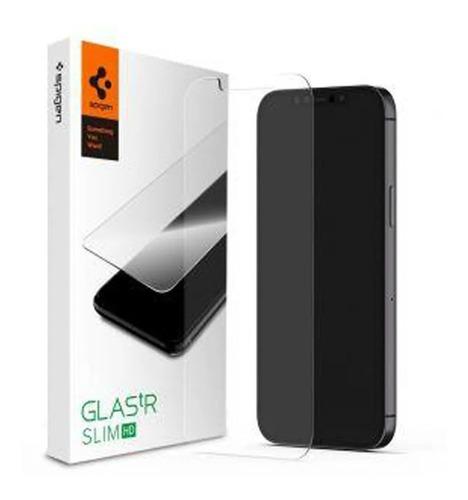 Vidrio Templado Spigen iPhone 12 Y 12 Pro Glas.tr Slim Hd 9h