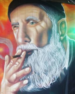 Graffiti Murales Persianas No Plotter Letrista Cervecerias