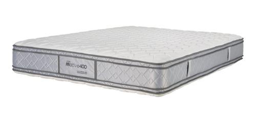 Imagen 1 de 2 de Colchón Queen de resortes La Cardeuse Native 400 - 140cm x 190cm x 24cm con pillow top