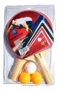 Kit 2 Raquetas De Ping Pong Y Pelotas Paquete Envio Gratis