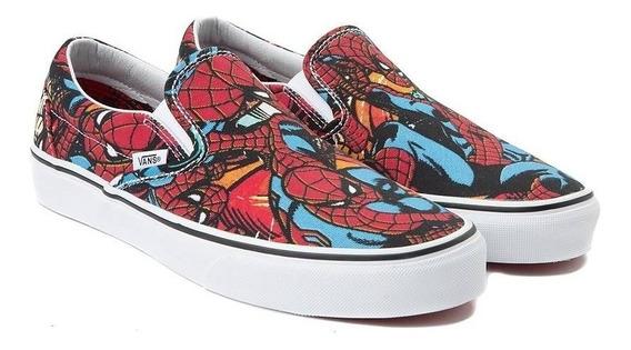 Vans Classic Slip-on Homem Aranha Marvel Edição Limitada