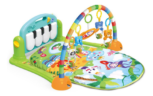 Tapete De Atividades Para Bebê Piano Musical Maxibaby Azul