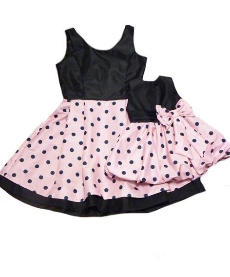 Vestidos Mãe E Filha Minnie Rosa