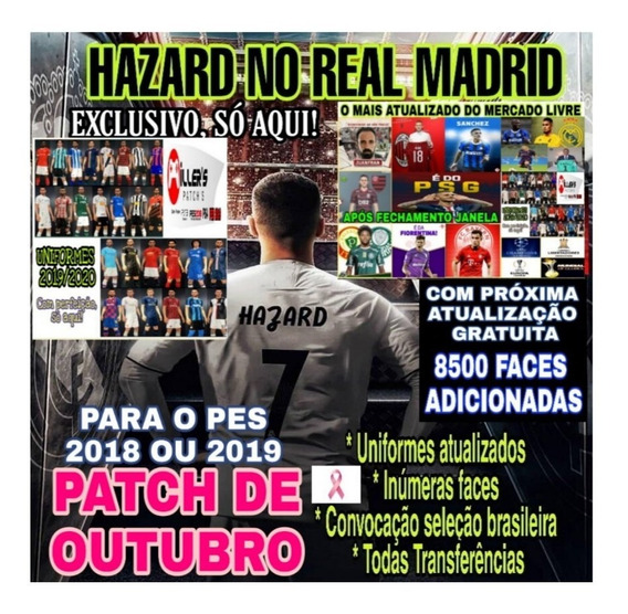Patch - Atualização - Pes 2018 Ps4 - Brasileirão 2019