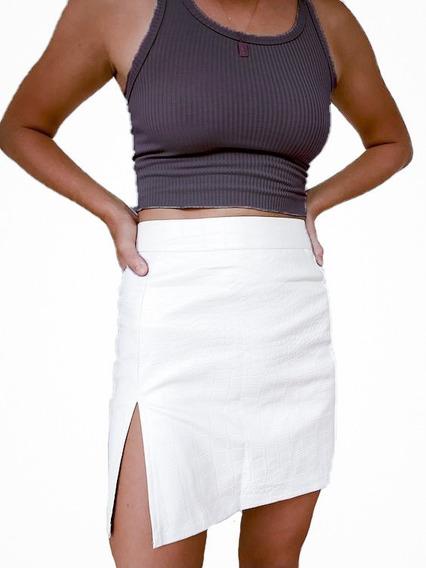 Musculosa Crop Top Gris Oscuro De Morley Talle Unico Mujer