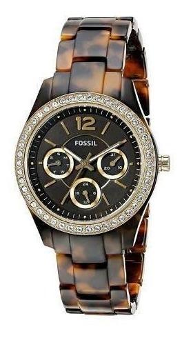 Reloj Fossil Es3814 Dama Mujer Café Alta Gama Precioso