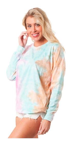 Sudadera Tie Dye - Amplia - Manga Larga - Colores Pastel