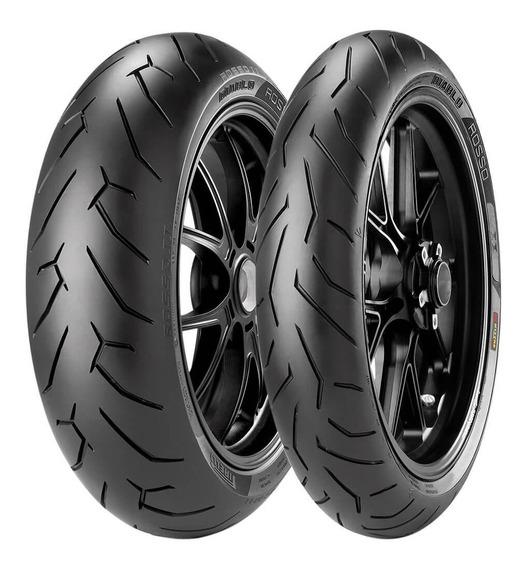 2 Pneu Moto Pirelli 140/70r17 66h 110/70r17 54h Diablo Rosso
