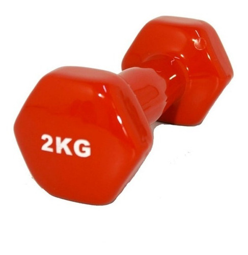 Imagen 1 de 6 de Mancuerna Pesa Hexagonal De Vinilo 2kg Fitness / Lhua