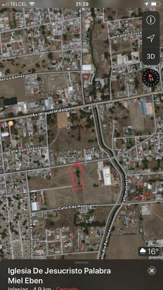 Terreno Bien Ubicado A Una Cuadra Del Panteón Municipal