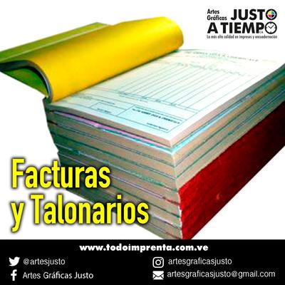 Facturas, Impresiones, Encuadernación, Etiquetas, Imprenta