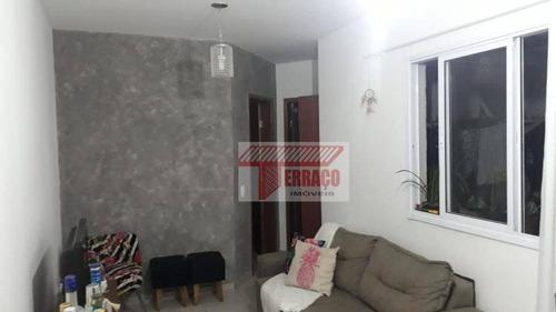Imagem 1 de 7 de Apartamento Com 2 Dormitórios À Venda, 47 M² Por R$ 235.000,00 - Vila Linda - Santo André/sp - Ap2819