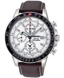 Relógio Seiko Ssc013 Solar Flight Sport Cronografo Original