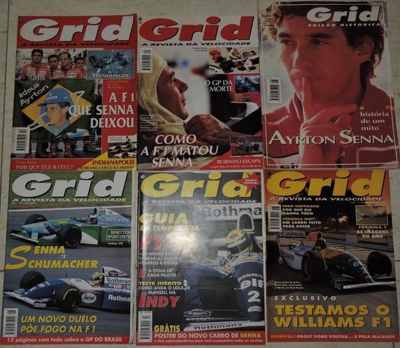 Coleção Revista Grid Ano 1 #1 Ao 10 + Varias Do Senna Raras