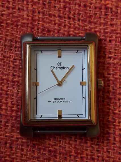 Relógio Champion Quadrado Fundo Branco Ch20306 Leia Descriçã