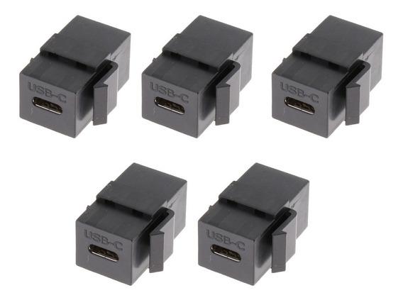 5pack Usb C Tipo C Conector Keystone Jack Para Painel De Tom