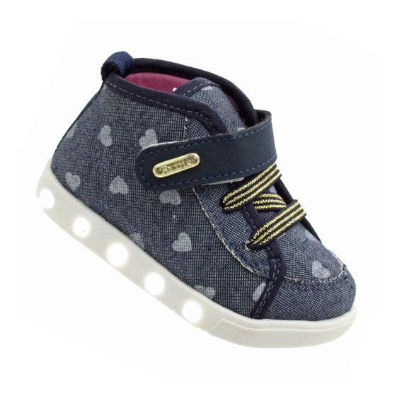 Tênis Led Infantil Sneakers Bota Botinha Feminino Com Luz
