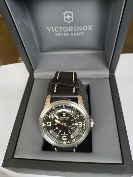 Relógio Victor Inox Swiss Army Automático Day Date Safira