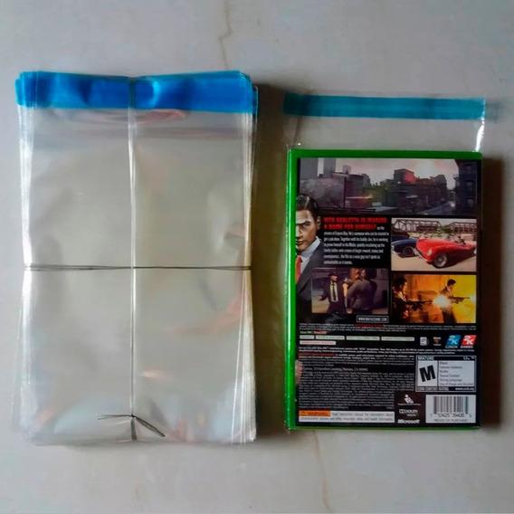 Envelope Plástico Transp Aba Adesivada Dvd Xbox 360 250 Pçs