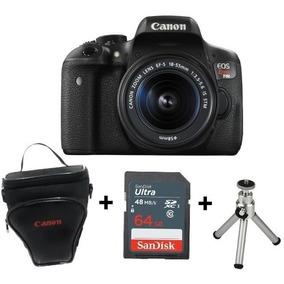 Câmera Canon Rebel T6i C/ 18-55 +bolsa + Sd 64gb +minitripé