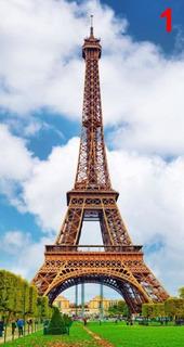 Vinil Torre Eiffel 1.40 X 2.50 Mts. Mural Decoracion Sala